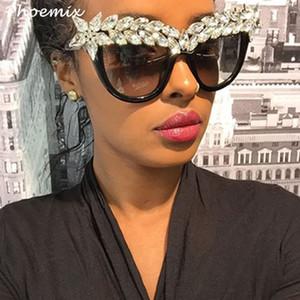 Phoemix lusso diamante degli occhiali da sole Modis Cat pietra dell'occhio 2019 di lusso del progettista delle donne di marca Occhiali da sole trasparente
