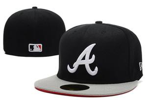 Venta al por mayor Atlanta Braveses Nueva Er Auténtica colección Sombrero ajustado en el campo bajo perfil 59FIFTY