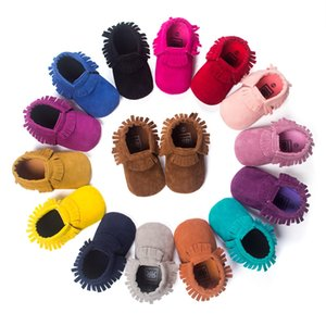 2020 Fashion New PU Suede Leather Newborn Baby Moccasins Shoes Soft Soled Non-slip Crib First Walker