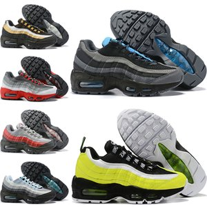 Nike Air Max 95 Zapatillas de deporte Essential Fitness para niños Habanero Red Black White Wolf Grey Girls Boys Toddler Child Casual Sports Cross Training sneakers EASY0