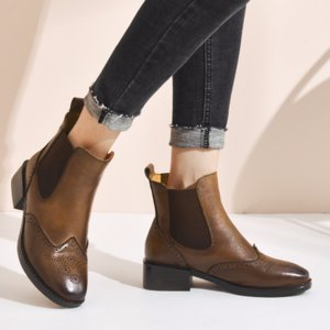 Ms bullock  boots fashion casual sleeve women's shoes Spring/Autumn  woman shoes  Genuine Leather boots women