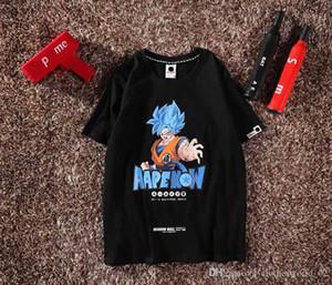 homens homens do desenhador camisetas 19ss mens nova caixa de logotipo do nome Joint grande marca macaco estilo t camisa Dragon Ball Wukong imprimiram a camisa padrão homens