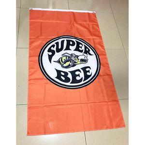 Laranja Super Bee Bandeira Car 3 * 5 pés (90 centímetros * 150 centímetros) presentes festivos bandeira Polyester bandeira decoração bandeira do vôo casa jardim