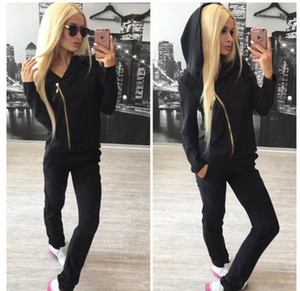 Vente Hot Lady Survêtement femmes Sweat + Pantalon Survêtement 2 Piece Set Suit Sporting JOUE femmes roses ensembles de costume