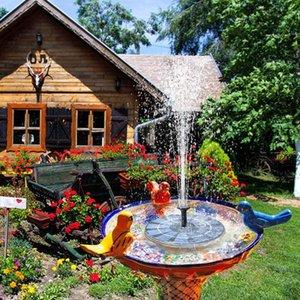 birdbath입니다 연못 수영장 정원 Fi를위한 배터리 백업 2.5W 새 목욕 분수 자유로운 서있는 태양 전원 분수와 태양 분수