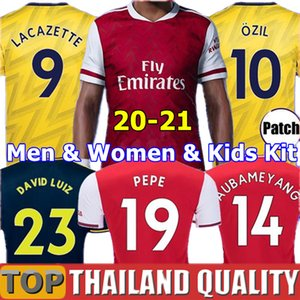 19 20 Arsenal maillots de foot PEPE AUBAMEYANG LACAZETTE 2019 2020 CEBALLOS GUENDOUZI XHAKA ensemble de football TORREIRA OZIL DAVID LUIZ adulte kit pour enfants les uniformes