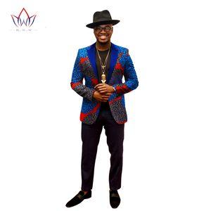 2019 Bahar Blazers Erkekler Blazer Kostüm Homme Afrika Bazin Riche 6XL Erkek Giyim Vestidos Formales Ücretsiz Kargo 6xl BRW WYN202