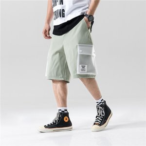 Mens Hip Hop Patchwork Loose Fit Cargo Shorts Streetwear Maschio Harajuku tasche scarsità casuali Pantaloni Pantaloni felpa