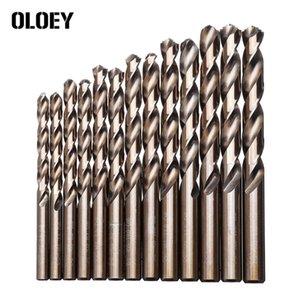 M42 Hss Twist Drill Bit Set 3 Edge Head 8% High Cobalt Drill Bit for Stainless Steel Wood Metal Drilling 25pcs set