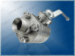 304S stainless steel high pressure welded ball valve