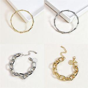 Woven Leather Rope Bracelet Men Women Jewelry Trendy Stainless Steel Buckle Fashion Hand Bracelet Bangle Gift C0325#913