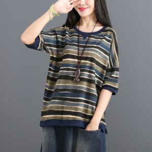 rayas estilo de la celebridad suelta clip colorido chaqueta corta-d clip de la chaqueta femenina de la manga media de la manga de la camiseta
