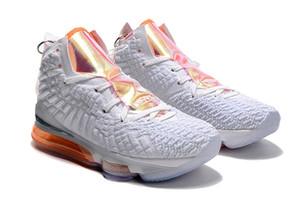 Hot Lebron 17 Futuro iridescente Grey Knitting posite laranja Homens tênis de basquete James 17s Zoom Mens Designer Sports Sneakers CT3843-100