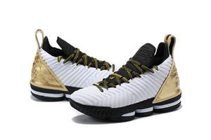 Nuevo Color L16 Oro Negro Blanco Hombres zapatos de baloncesto Buena calidad J16s hombres diseñador deportivo zapatilla deportiva con caja