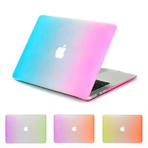 accessoires informatiques couleurs de cas coque de protection pour ordinateur portable arc-en-mac pour le livre Pro Retina air macbook 11/13 housse d'ordinateur portable bleu rose +
