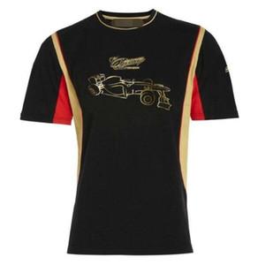 F1 포뮬러 원 반팔 T 셔츠 2012 로터스 로터스 키미 라이코넨 레이싱 슈트 라운드 넥 짧은 소매 톱 사이클링 저지