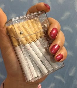 Mode Weibliche Fine Smoke Zigaretten-Etui mit Glitter Ultradünnes Customized Kunststoff 20 Sticks T200111 Verpackung