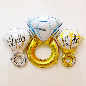 Wedding Supplies 32-Inch Diamond Ring Aluminum Film Balloon Valentine's Confession Proposal Props Diamond Ring Foil Balloon