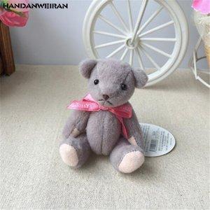 Súper Kawaii 1PCS conjunta oso de peluche de juguete pequeño colgante Mini lindo de los osos de peluche juguetes de la muñeca Sociedad Actividades regalo 10CM HANDANWEIRAN