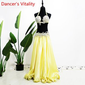 Show Belly Dance Costume New Performance suit hang neck sexy adult Bellydance suit Bra Belt Skirt 3pcs Belly Dancing Set