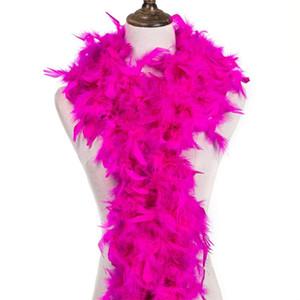 2M de alta calidad suaves de rosa del rojo de Turquía plumas boa de plumas 50gram Sobre la decoración de faisán plumas de bricolaje para automóviles artesanía de boda
