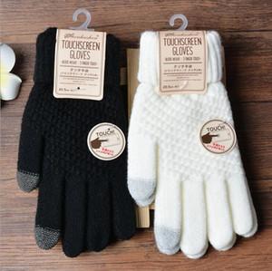 2019 gestrickte handschuhe frauen männer neue jacquard touch screenhandschuhe mode winter winter handschuhe 2020
