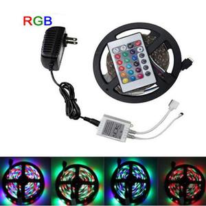 300 LED 5M 10M 15M Bandes LED 3528SMD DC12V RGB LED bande imperméable à l'eau de lumières LED cordes lumières ruban avec l'ensemble de la télécommande
