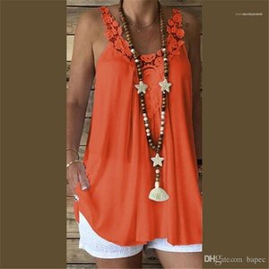 Top Summer Sexy Ladies Vest Women Tops Summer Candy Color Chiffon Camis Lace Panelled Womens Tanks