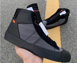 Kutu Blazer Studio Orta Grim Reaper Basketbol Tasarımcı Ayakkabı Siyah Koni Beyaz İşbirliği Moda Sneakers İyi Kalite ile