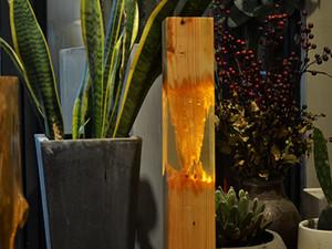 도매 나무 램프 공예 에폭시 수지 나무 예술 등 바닥 크리스마스 선물 아이디어 독특한 창조적 인 예술