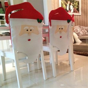 High quality 44cm*74cm 44*54cm Santa Claus Hat Chair Covers Christmas Decoration Kitchen Dining Table Decor Home Party Decoration Chair sets