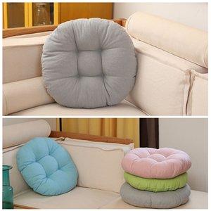 Круглая форма 3 Размер подушки сиденья Дышащие сгущает Cotton Татами Подушка Домашнее украшение автомобиля Сплошной цвет мягкий диван Подушка DH1399 T03