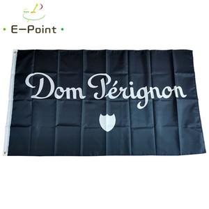 Champagne Dom Perignon Bandera 3 * 5 pies (90cm * 150cm) Poliéster indicador de la bandera de volar a casa decoración bandera jardín regalos festivos