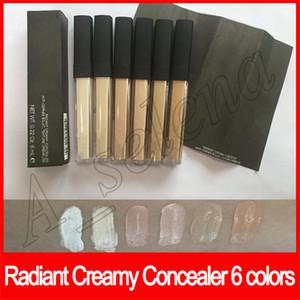 Maquiagem para o rosto Radiant Cremoso Corretivo Liquid Foundation seis cores Anti Cernes Eclat 6ml Com Escova Textura Cremeuse