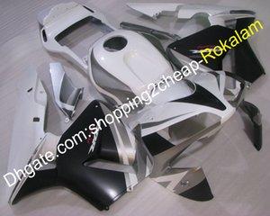 Для Honda CBR600RR F5 2003 2004 CBR600 RR CBR 600RR CBR600-RR 03 04 Мотоцикл Черный Белый Серый Обтекатель кузова (литье под давлением)