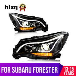 hlxg Car Styling LED Scheinwerfer für Forester 2013-2015 LED-Scheinwerfer Angel Eyes TFL HID KIT Scheinwerfer Montage
