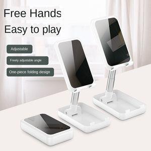 Metal Desktop Mobile Cell Phone Display Stands Cellphone fold Holder Mount For Lazy Ipad Tablet Support Holder Live Online Course Holder