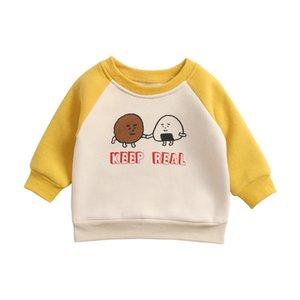 Kinder-Baby-warme Pullover Junge Mädchen Winter verdicken Plus Velvet Mäntel Kleidung Kinder langärmelige Cartoons Jackets