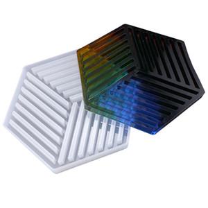 Hexágono Coasters Moldes De Silicone DIY Resina Moldes Tarja Triângulo para Esteira De Tabela Decoração Jóias Fazendo Ofício Molde De Silicone