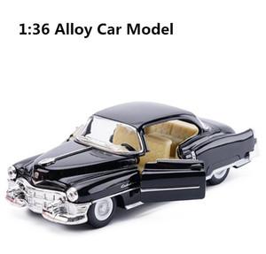 modello di alta simulazione super-car, 1: 36 in lega di tirare indietro Cadillac 62 classico modello di auto, 2 aperto il veicolo giocattolo porta, trasporto libero Y200109