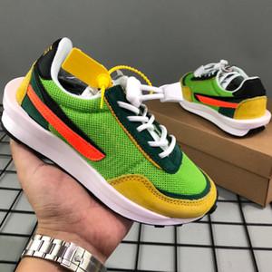 Sacai X LDV Waffle Daybreak Детская обувь для мальчиков девочек 2019 дизайнер Детские кроссовки зеленый Gusto дети Chaussures Enfants размер 28-35