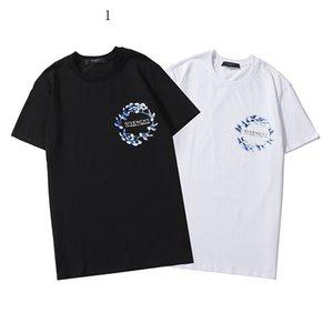 Роскошные мужские рубашки лето Mens Designered футболка с коротким рукавом письмо Отпечатано женщин Top тройники Hip Hop Фирменные мужские Streetwear 2020308K