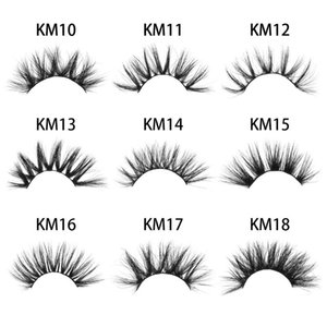 Hot 1 Pair 3D Mink Hair False Eyelashes 25mm Dramatic Long Wispies Fluffy Hair Lash Handmade Multilayers Lashes Eye Makeup Tools