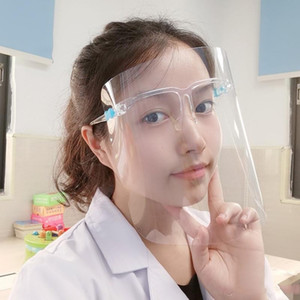 US Ship Clear Glasses Face Shield full face Plastic Protective mask Transparent Anti-fog face guard anti oil dust splash kitchen cover