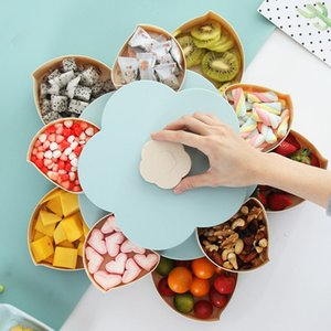 Magic Compote Fruit Vegetables Nut Dish Candy Tray for Party Bar Rotatable Folding Compotes Christmas Halloween Birthday Partys