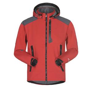 Nuovo Uomini Giacca impermeabile traspirante Softshell Jacket esterna Uomini Sport cappotti Mountainpeak Equitazione Coat