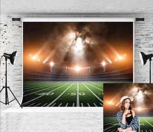 Dream7x5ft (2.2x1.5m) American Football Field Fotografie-Hintergrund-Stadion Licht-Foto-Hintergrund für Sport-Thema-Partei-Schießen Studio Prop