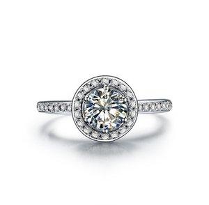 الصلبة الفضة الاسترليني الذهب الأبيض إنهاء خاتم 3CT ممتازة VVS1 الاصطناعية خاتم الماس الزفاف للإناث