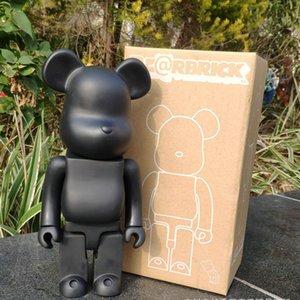 11 pulgadas 400% Bearbrick Bear @ brick Figuras de acción Block Bear PVC Modelo Figuras DIY Paint Dolls Niños Juguetes Niños Regalos de cumpleaños T190912
