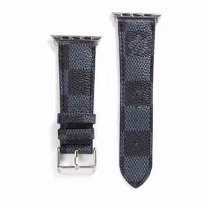 Gift Brand Leather Watchbands for Apple Watch Band 42mm 38mm 40mm 44mm iwatch 1 2 345 bands Leather Strap Bracelet Fashion Stripes A06